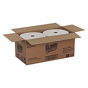 White Flax Disposable Wipes, Number of Sheets 825, Package Quantity 2