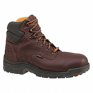 6 in Work Boot,  7-1/2,  W,  Men's,  Dark Mocha,  Alloy Toe Type,  1 PR