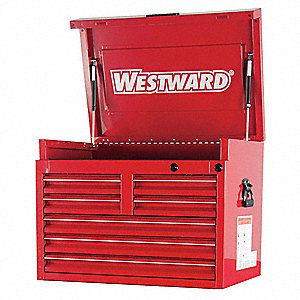 "Red Heavy Duty Top Chest, 22"" H X 30"" W X 20"" D, Number of Drawers: 7"