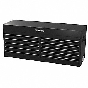"Black Heavy Duty Top Chest, 22"" H X 56"" W X 24"" D, Number of Drawers: 12"