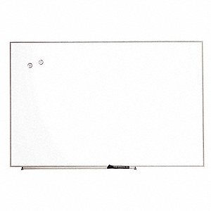 "Gloss-Finish Melamine Dry Erase Board, Wall Mounted, 16""H x 23""W, White"