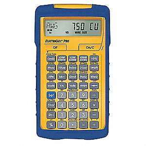 Electrical Calculator,8-1/4 x 6 In,LCD