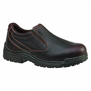 SlipOn Work Shoes,Alloy,Men,11.5W,Brn,PR