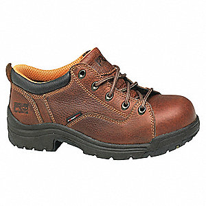 Work Shoes,Alloy,Womens,6.5M,Brown,PR
