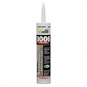 Super White Caulk, Acrylic, 10.0 oz. Cartridge