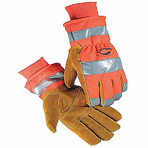 Cold Protection Gloves,M,Hi-Vis Orng,PR