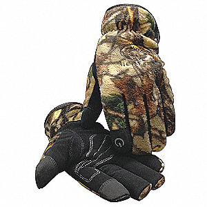 Cold Protection Gloves, Heatrac® Lining, Slip-On Cuff, Camouflage, 2XL, PR 1