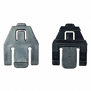 Plastic Slot Adaptors, Black, 1 EA
