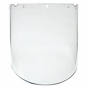 "Clear Faceshield Visor, 9-1/4"" Visor Height, Polycarbonate Visor Material"