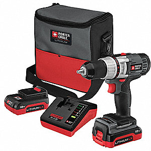 "18V Premium Li-Ion 1/2"" Cordless Drill/ Driver Kit, Battery Included"