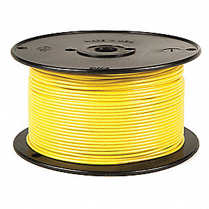 BATTERY DOCTOR Primary Wire,12 ga.,19,500 ft,60V,Yellow - 34GC17 ...