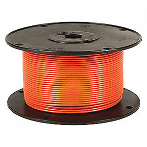 Primary Automotive Wire,  Number of Conductors 1,  14 AWG,  Cross-linked PE,  500 ft.,  Orange