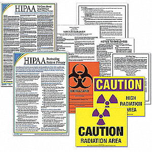 Labor Law Poster Kit, CA Healthcare Labor Law, English