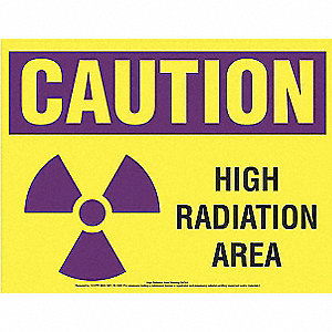 Caution Sign,Caution High Radiation Area