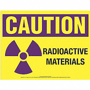 "Radiation and X-Ray, Caution, Paper, 8-1/2"" x 11"", Surface, Not Retroreflective"