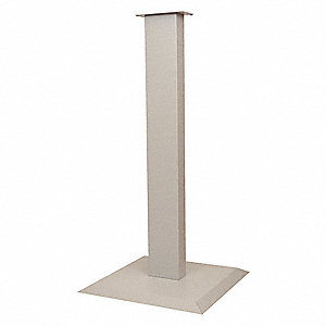 "36-1/16""H x 18""D x 18""W Steel Floor Stand, Light Beige"