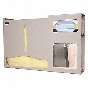 Protection System, Number of Compartments 3, Beige ABS Plastic