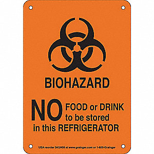"Biohazard, No Header, Aluminum, 7"" x 10"""
