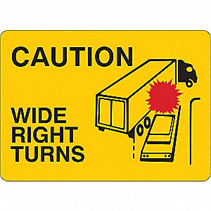 "Road Traffic Control, No Header, Aluminum, 10"" x 14"", With Mounting Holes"