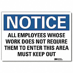 "Authorized Personnel and Restricted Access, Notice, Vinyl, 7"" x 10"", Adhesive Surface, Engineer"