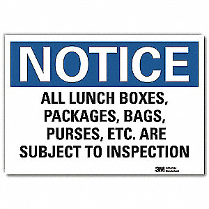 "Security and Surveillance, Notice, Vinyl, 5"" x 7"", Adhesive Surface, Engineer"