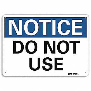 Notice Sign,RecycldReflecAlum,10inWx7inH