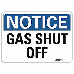 "Chemical, Gas or Hazardous Materials, Notice, Recycled Aluminum, 7"" x 10"", With Mounting Holes"