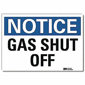 "Chemical, Gas or Hazardous Materials, Notice, Vinyl, 10"" x 14"", Adhesive Surface, Engineer"