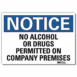 "Notice, Vinyl, 7"" x 10"", Adhesive Surface, Engineer"