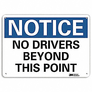 "Notice Sign,7""H,10""W,Aluminum"