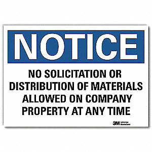 "Security and Surveillance, Notice, Vinyl, 7"" x 10"", Adhesive Surface, Engineer"