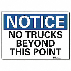 "Lift Truck Traffic, Notice, Vinyl, 7"" x 10"", Adhesive Surface, Engineer"