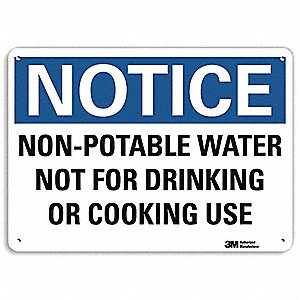 "Notice, Aluminum, 10"" x 14"", With Mounting Holes, Engineer"