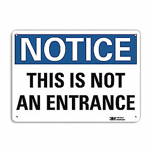 "Notice Sign,10"" x 14"",Aluminum"