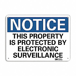 "Personal Protection, Notice, Recycled Aluminum, 7"" x 10"", With Mounting Holes, Engineer"