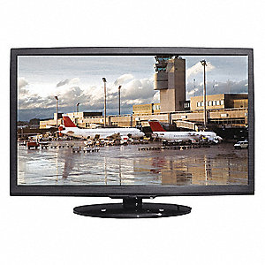 CCTV Monitor,Black,120 to 240VAC,24 in.