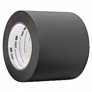 "Light-Duty Duct Tape, 3/4"" X 50 yd., 6.30 mil Thick, Black Vinyl, 1 EA"