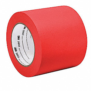 "Light-Duty Duct Tape, 3"" X 50 yd., 6.30 mil Thick, Red Vinyl, 1 EA"