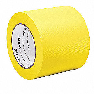 "Light-Duty Duct Tape, 1/2"" X 50 yd., 6.30 mil Thick, Yellow Vinyl, 1 EA"