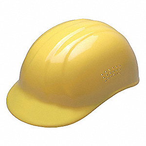 Yellow Polyethylene Bump Cap, Fits Hat Size: 6-1/2 to 7-3/4