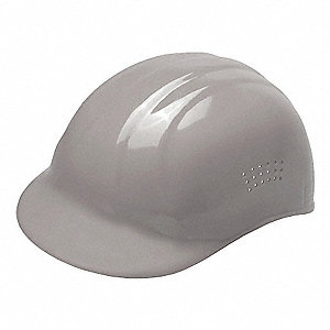 Gray Polyethylene Vented Bump Cap, Style: Perforated Sides, Fits Hat Size: 6-1/2 to 7-3/4