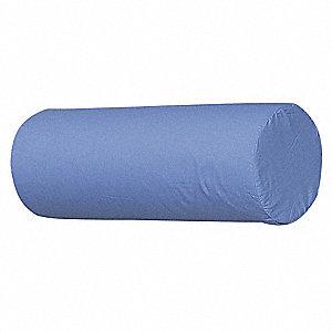 19 X 3 5 Standard Foam Fill Neck Roll Pillow Blue Close