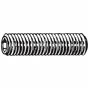 Socket Set Screw,Gr M3,Flat,12mm L,PK100