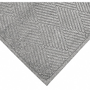 Carpeted Entrance Mat,Steel Gray,4ftx6ft