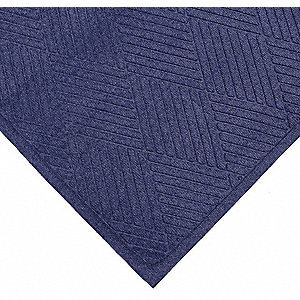 Blue Needlepunch Carpet, Entrance Mat, 3 ft. Width, 5 ft. Length