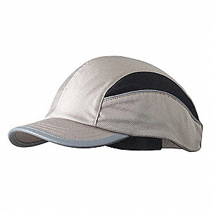 Beige Inner ABS Polymer, Outer Polycotton Bump Cap, Style: All Season Baseball, Fits Hat Size: 7 to