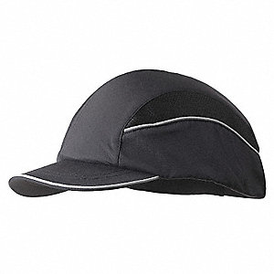 Black Inner ABS Polymer, Outer Nylon Bump Cap, Style: All Season Baseball, Fits Hat Size: 7 to 7-3/4