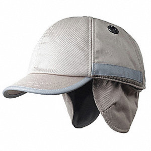 Beige Inner ABS Polymer, Outer Polycotton Bump Cap, Style: Winter Baseball, Fits Hat Size: 7 to 7-3/