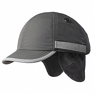 Black Inner ABS Polymer, Outer Nylon Bump Cap, Style: Winter Baseball, Fits Hat Size: 7 to 7-3/4