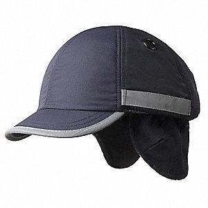 Navy Inner ABS Polymer, Outer Nylon Bump Cap, Style: Winter Baseball, Fits Hat Size: 7 to 7-3/4